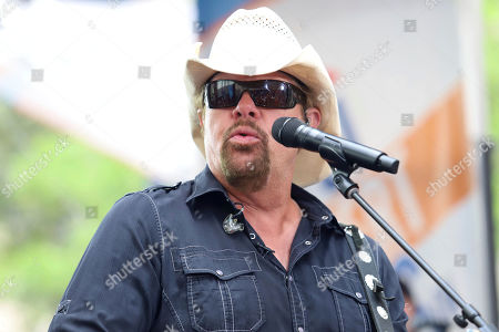 Country music recording artist Toby Keith performs on NBC's Today show at Rockefeller Plaza, in New York
