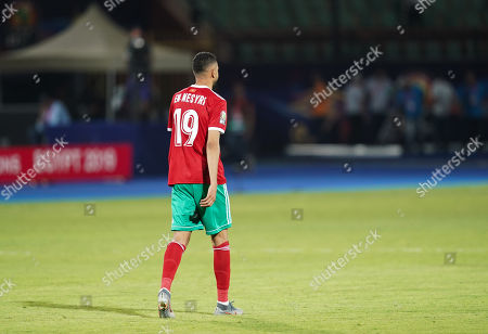 FRANCE OUT Youssef En-Nesyri of Morocco after missing a penalty during the African Cup of Nations match between Marocco and Benin at the Al Salam Stadium in Cairo, Egypt