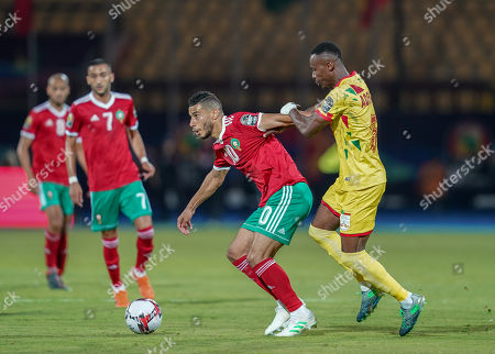 FRANCE OUT Youssef En-Nesyri of Morocco during the African Cup of Nations match between Marocco and Benin at the Al Salam Stadium in Cairo, Egypt