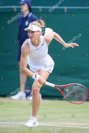 Viktorija Golubic of Switzerland during the women's singles third round match