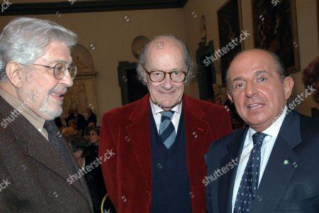 Giancarlo Magalli with the Directors Ugo Gregoretti and Ettore Scola