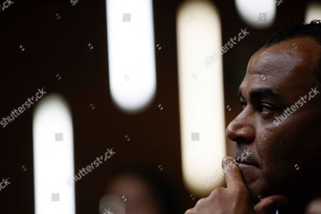 Brazil's former soccer player Cafu attends a press conference on the upcoming Copa America title match, in Rio de Janeiro, Brazil, . Brazil and Peru will meet up for the Copa America championship match on Sunday
