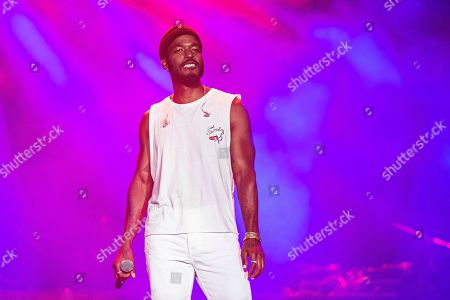 Luke James performs at the 2019 Essence Festival at the Mercedes-Benz Superdome, in New Orleans