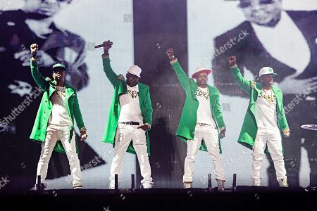 Bobby Brown; Ronnie DeVoe; Michael Bivins; Ricky Bell. Ronnie DeVoe (from left), Bobby Brown, Ricky Bell, and Michael Bivins of RBRM perform at the 2019 Essence Festival at the Mercedes-Benz Superdome, in New Orleans