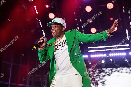 Michael Bivins of RBRM performs at the 2019 Essence Festival at the Mercedes-Benz Superdome, in New Orleans