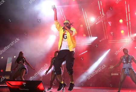 Stock Image of Machel Montano performs at the 2019 Essence Festival at the Mercedes-Benz Superdome, in New Orleans