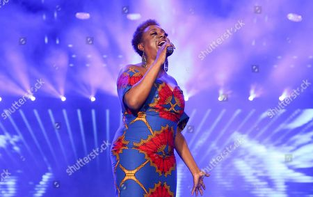 Stock Image of Ledisi performs at the 2019 Essence Festival at the Mercedes-Benz Superdome, in New Orleans