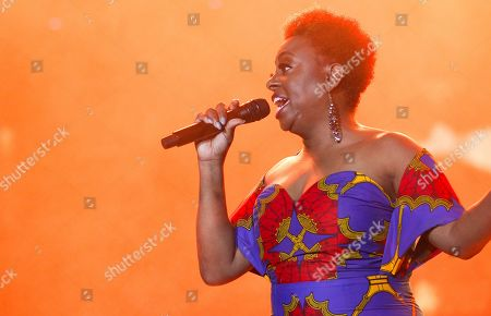 Ledisi performs at the 2019 Essence Festival at the Mercedes-Benz Superdome, in New Orleans