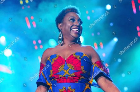 Stock Photo of Ledisi performs at the 2019 Essence Festival at the Mercedes-Benz Superdome, in New Orleans
