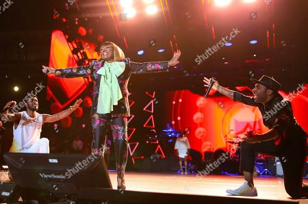 Luke James, Patti Labelle, Major. Luke James, Patti Labelle, and Major perform at the 2019 Essence Festival at the Mercedes-Benz Superdome, in New Orleans