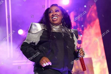 Stock Picture of Missy Elliot performs at the 2019 Essence Festival at the Mercedes-Benz Superdome, in New Orleans