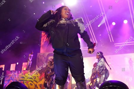 Missy Elliot performs at the 2019 Essence Festival at the Mercedes-Benz Superdome, in New Orleans