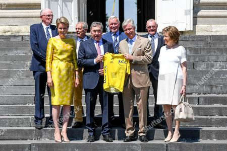 Queen Mathilde, Eddy Merckx, King Philippe, Claudine Acou