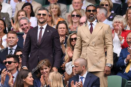 Carl Froch and David Haye on Centre Court