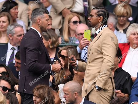 Stock Photo of Carl Froch and David Haye on Centre Court