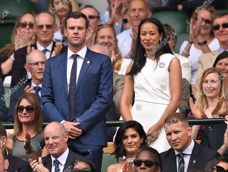 Leon Smith and Anne Keothavong on Centre Court