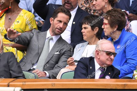 Stock Image of Ben Ainslie and Billie Jean King on Centre Court