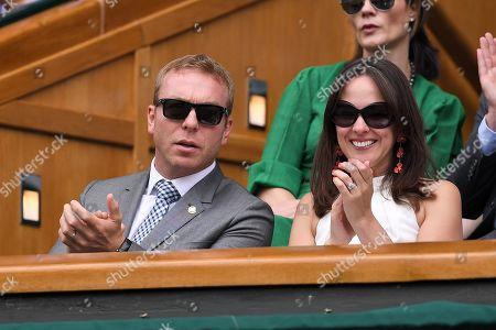 Chris Hoy and Sarra Hoy on Centre Court