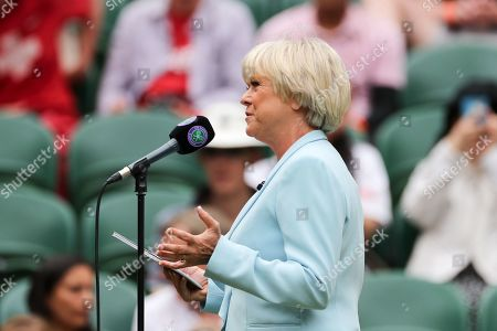 Sue Barker on Centre Court