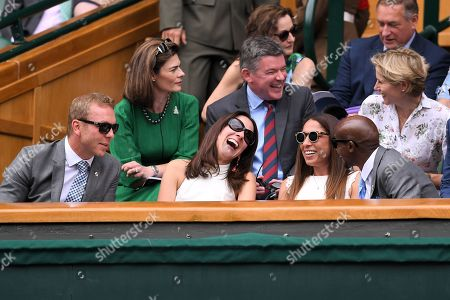 Chris Hoy and Sarra Hoy, Mo Farah and Tania Nell on Centre Court