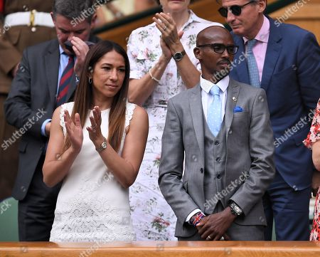 Mo Farah and Tania Nell on Centre Court