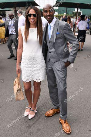 Mo Farah and Tania Nell