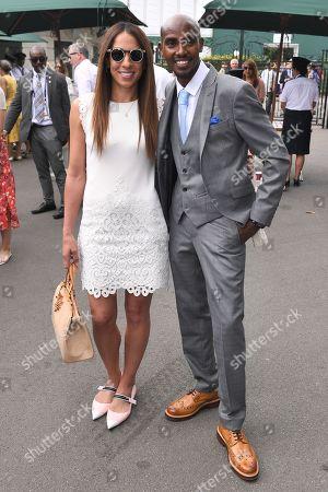 Stock Image of Mo Farah and Tania Nell