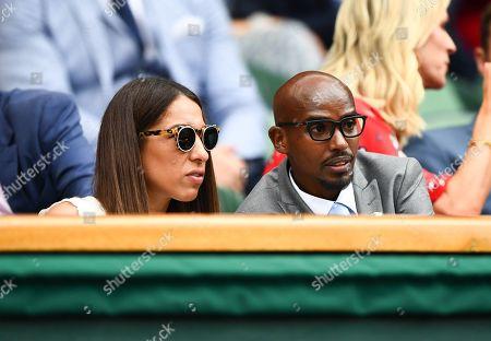 Stock Photo of Mo Farah and Tania Farah on Centre Court