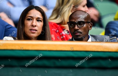Mo Farah and his wife Tania Nell