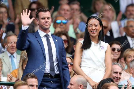 Stock Photo of Leon Smith and Anne Keothavong on Centre Court