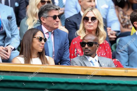 Mo Farah and Tania Nell] on Centre Court