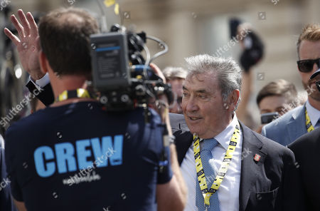 Stock Photo of Belgian cycling legend Eddy Merckx attends the 1st stage of the 106th edition of the Tour de France cycling race over 194.5km around Brussels, Belgium, 06 July 2019.