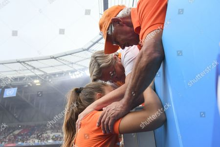 Lieke Martens of Netherlands with her parents at full time