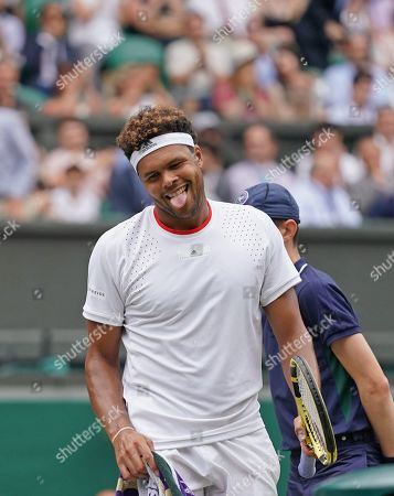 Jo-Wilfred Tsonga (FRA) after getting beaten by Rafael Nadal (ESP) in straight sets.