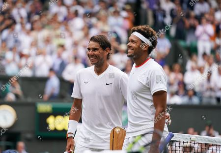 All smiles after Rafael Nadal (ESP) defeats Jo-Wilfred Tsonga (FRA)
