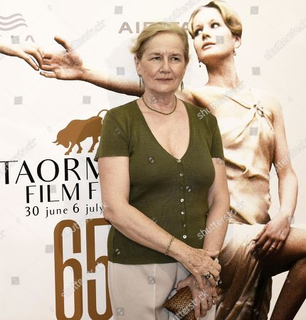 Dominique Sanda poses during a photo call at the 65th annual Taormina Film Festival, in Taormina, Sicily Island, Italy, 06 July 2019. The festival runs from 30 to 06 July.