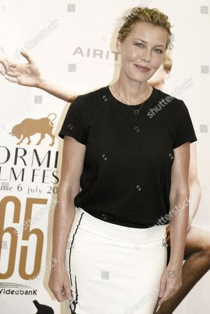 Stock Picture of Connie Nielsen poses during a photo call at the 65th annual Taormina Film Festival, in Taormina, Sicily Island, Italy, 06 July 2019. The festival runs from 30 to 06 July.
