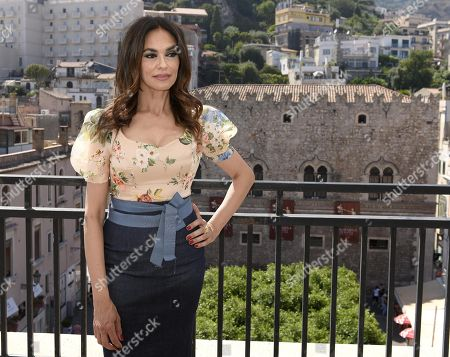 Maria Grazia Cucinotta poses during a photo call at the 65th annual Taormina Film Festival, in Taormina, Sicily Island, Italy, 06 July 2019. The festival runs from 30 to 06 July.