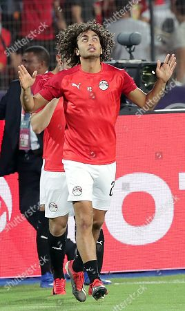 Stock Picture of Egypt's Amr Warda reacts before the 2019 Africa Cup of Nations (AFCON 2019) round of 16 soccer match between Egypt and South Africa in Cairo Stadium, Cairo, Egypt, 06 July 2019.