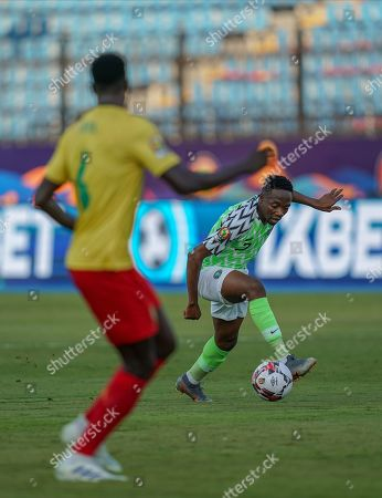 FRANCE OUT Ahmed Musa of Nigeria during the African Cup of Nations match between Cameroon and Nigeria at the Alexanddria Stadium in Alexandria, Egypt