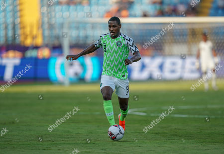FRANCE OUT odion Jude Ighalo of Nigeria during the African Cup of Nations match between Cameroon and Nigeria at the Alexanddria Stadium in Alexandria, Egypt