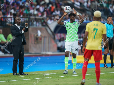 Stock Image of FRANCE OUT Clarence Seedorf of Cameroon during the African Cup of Nations match between Cameroon and Nigeria at the Alexanddria Stadium in Alexandria, Egypt