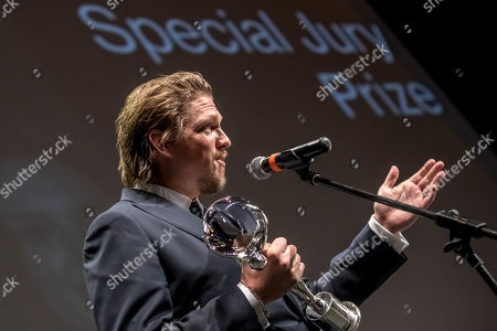 German director Jan-Ole Gerster speaks after he received the Official Competition Special Jury Prize for 'Lara' (Lara) during the closing ceremony of the 54th Karlovy Vary International Film Festival in Karlovy Vary, Czech Republic, 06 July 2019.
