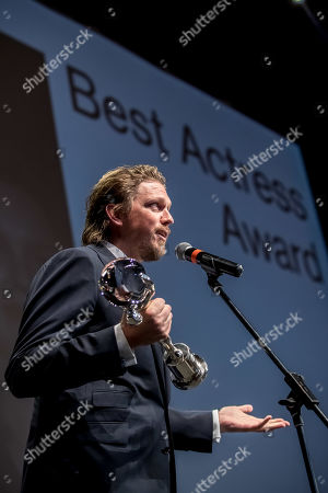 German director Jan-Ole Gerster speaks after he received the Best Actress Award for actress Corinna Harfouch for her role in film 'Lara' (Lara) during the closing ceremony of the 54th Karlovy Vary International Film Festival in Karlovy Vary, Czech Republic, 06 July 2019.