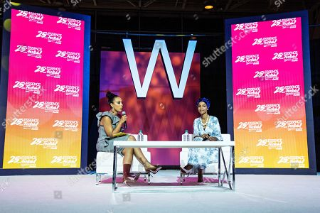 Ilhan Omar ; Angela Rye. Angela Rye (left) and Rep. Ilhan Omar, D-Minn., speak at the 2019 Essence Festival at the Ernest N. Morial Convention Center, in New Orleans
