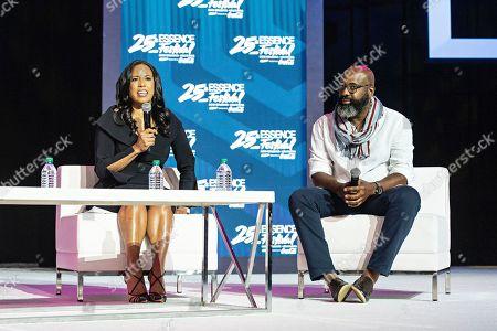Michelle Ebanks; Richelieu Dennis. Michelle Ebanks, left, and Richelieu Dennis speak at the 2019 Essence Festival at the Ernest N. Morial Convention Center, in New Orleans