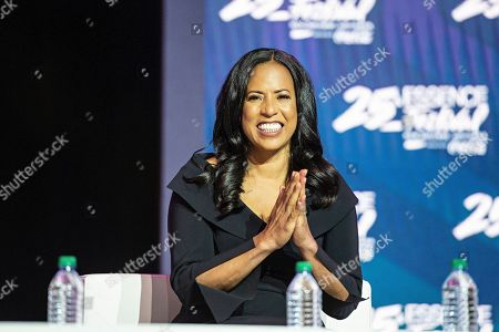 Michelle Ebanks speaks at the 2019 Essence Festival at the Ernest N. Morial Convention Center, in New Orleans
