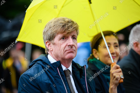 Former US Congressman Patrick Kennedy, nephew of murdered President John F. Kennedy, attends a rally of supporters of the National Council of Resistance of Iran (NCRI) in Berlin, Germany, 06 July 2019. People protest against the current government, calling for a regime change and a democratization of society