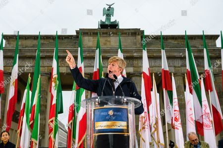 Editorial picture of Protest actions of the National Council of Resistance of Iran (NCRI) in Germany, Berlin - 06 Jul 2019