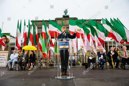 Editorial photo of Protest actions of the National Council of Resistance of Iran (NCRI) in Germany, Berlin - 06 Jul 2019